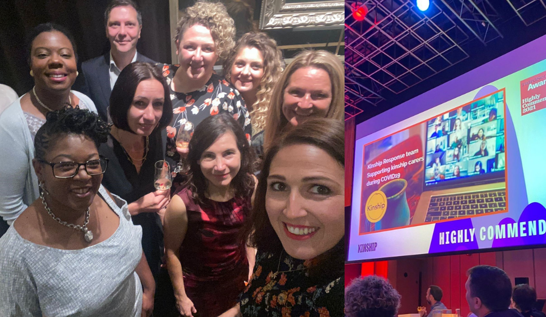 Kinship's COVID frontline team highly commended in the Third Sector Awards
